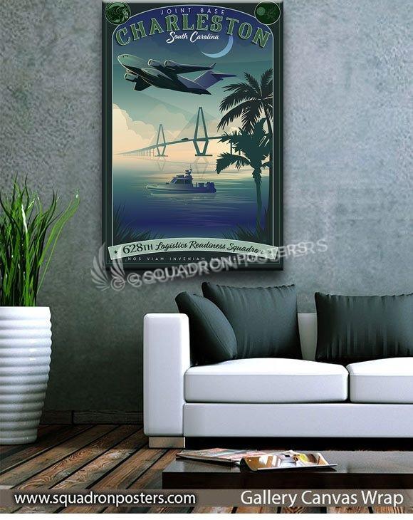 Charleston_AFB_C-17_628th_LRS_SP01524-squadron-posters-vintage-canvas-wrap-aviation-prints