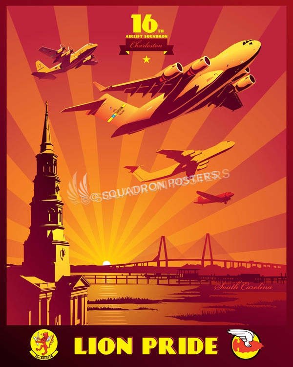 Charleston C 17 16th Airlift Squadron Squadron Posters