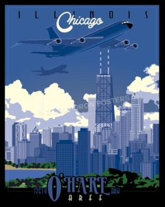 Chicago KC-135E SP00544-vintage-military-aviation-travel-poster-art-print-gift