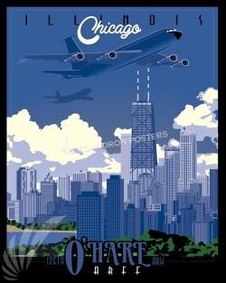 Chicago KC-135E SP00544-vintage-military-aviation-travel-poster-art-print-gift