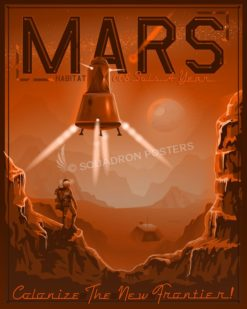 Colonize Mars Travel Poster SP00734 featured-spacecraft-lithograph-vintage-poster-art