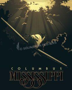 Columbus clouds T-6 Texan II columbus-clouds-t-6-texan-ii-(v2)-military-aviation-poster-art