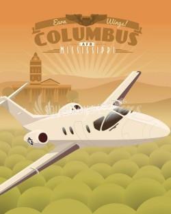 columbus-afb-t-1-Jayhawk-military-aviation-poster-art