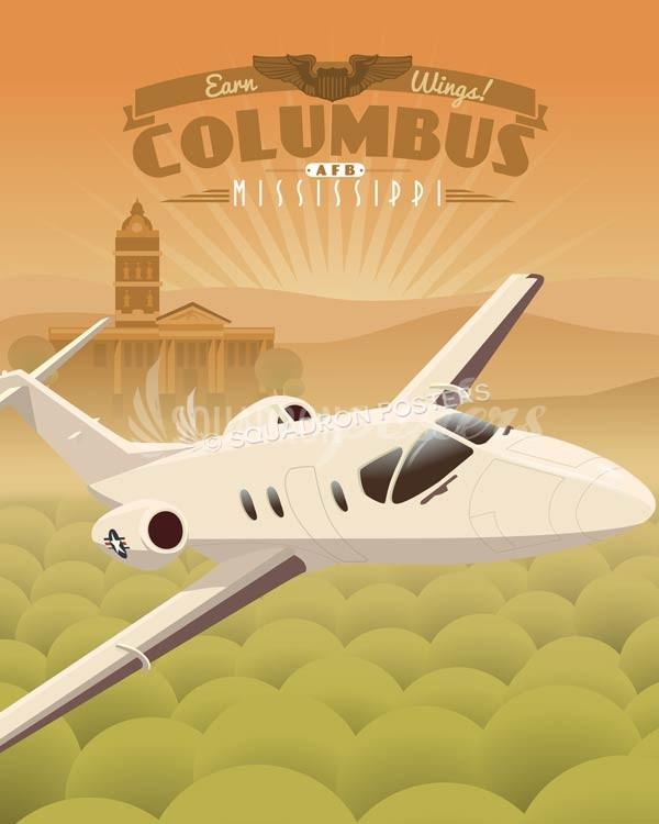 columbus-afb-t-1-Jayhawk-military-aviation-poster-art