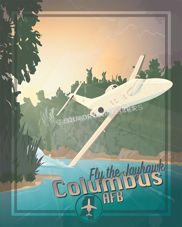 Columbus T1 SP00606 military aviation poster art print gift