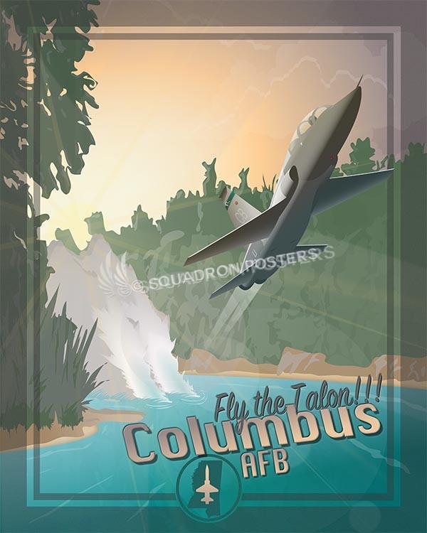 Talon Columbus AFB Columbus T38 SP00604 military aviation travel poster print gift