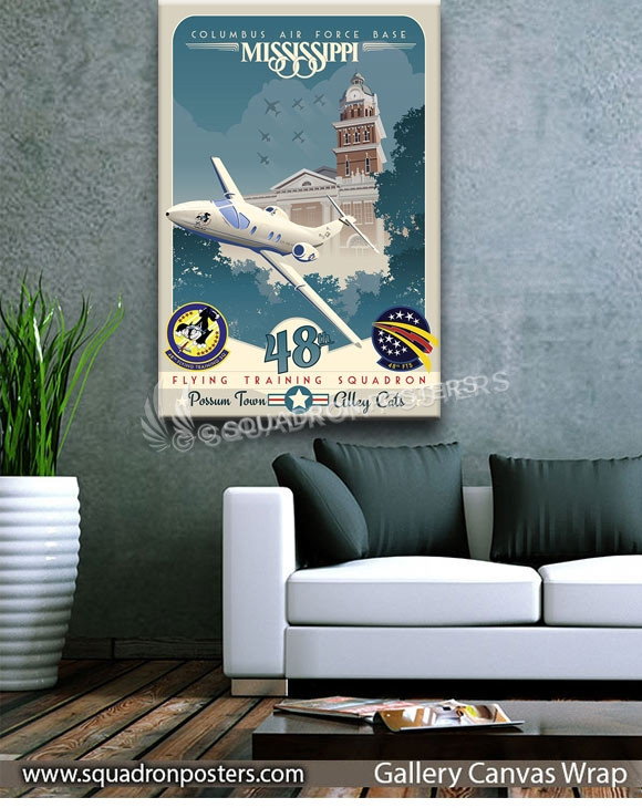 Columbus_T-1_48th_FTS_SP01003-squadron-posters-vintage-canvas-wrap-aviation-prints