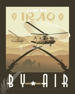 Come See Iraq by Air UH-60 Black Hawk come_see_iraq_uh-60_sp01198-featured-aircraft-lithograph-vintage-airplane-poster-art