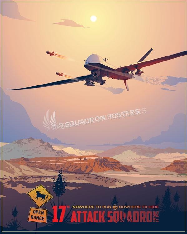17th Attack Squadron Mq 9 Squadron Posters