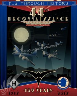 44th Reconnaissance Squadron 100th Anniversary Art Creech_AFB_NV_44th_Recon_Sq_100_Anniversary_SP01353-featured-aircraft-lithograph-vintage-airplane-poster-art