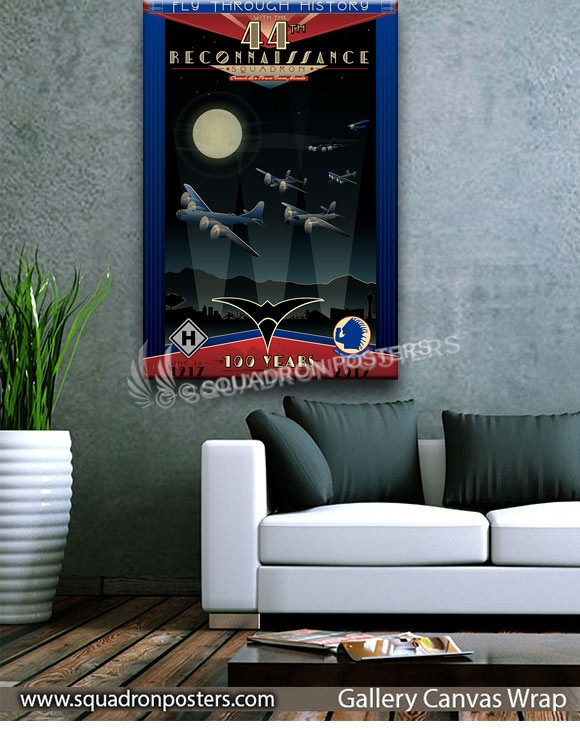 Creech_AFB_NV_44th_Recon_Sq_100_Anniversary_SP01353-squadron-posters-vintage-canvas-wrap-aviation-prints