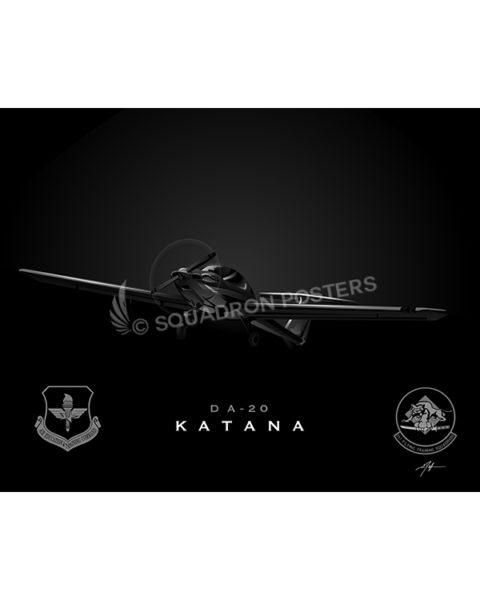 DA-20 IFS lithograph SP00794-FEAT-jet-black-aircraft-lithograph