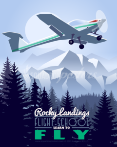 Initial Flight Screener poster art