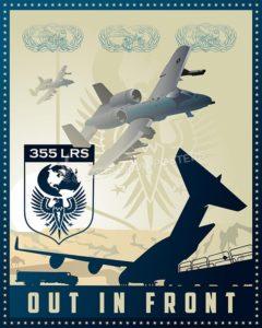 Davis A-10 355th LRS SP00553-vintage-military-aviation-travel-poster-art-print-gift
