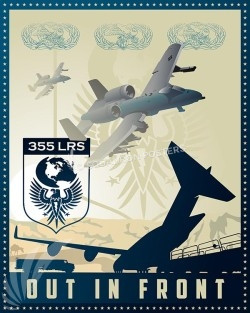 Davis A-10 355th LRS SP00553-vintage-military-aviation-travel-poster-art-print-gift