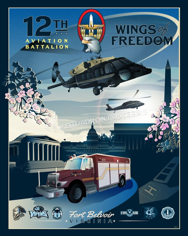 Fort Belvoir 12th Aviation Battalion Squadron Posters