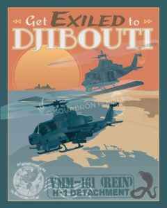 Djibouti VMM-161 Djibouti_Cobra_VMM-161_SP00875-featured-aircraft-lithograph-vintage-airplane-poster-art
