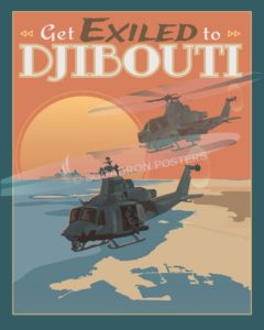 Djibouti Africa Huey poster art Djibouti_Huey_SP01484-featured-aircraft-lithograph-vintage-airplane-poster-art