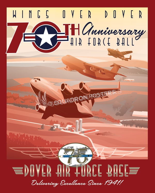 Dover Afb 70 Anniversary Air Force Ball Squadron Posters
