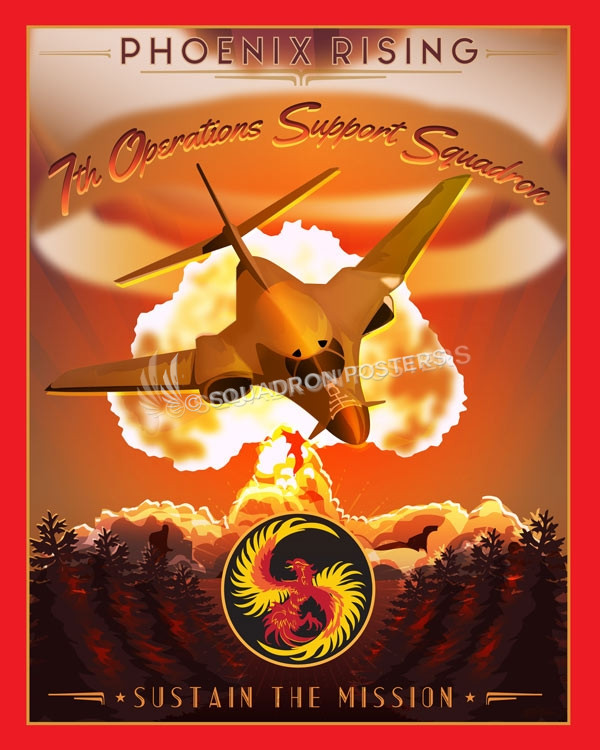 7th Operations Support Squadron Squadron Posters