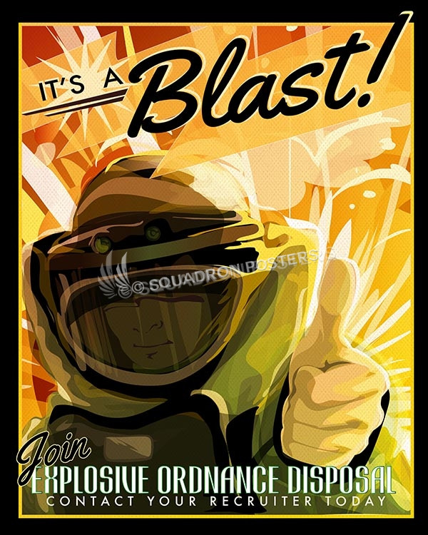 EOD - Explosive Ordnance Disposal EOD v2 SP00628-vintage-military-aviation-travel-poster-art-print-gift