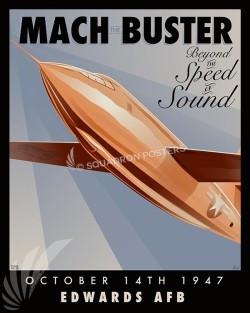 Edwards Mach X-1 SP00585-vintage-military-aviation-travel-poster-art-print-gift