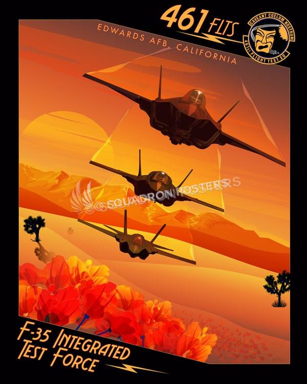 Edwards AFB F-35 FLTS SP00727 feature-vintage-print