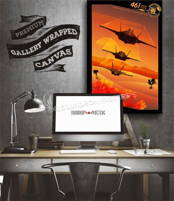 Edwards AFB F-35 FLTS SP00727 aircraft-prints-posters-vintage-art