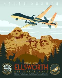 Ellsworth AFB - 89th ATKS, MQ-9 Reaper Ellsworth_AFB_89_ATKS_MQ-9_SP01337-featured-aircraft-lithograph-vintage-airplane-poster-art