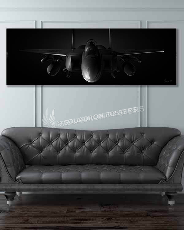 F-15E jet black wide-SP00857-featured-image-military-canvas-print