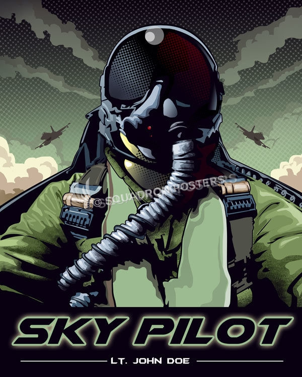 Custom Pilot Pop Art Squadron Posters