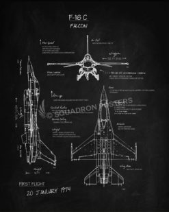 F-16c_Falcon_Blackboard_SP00912-featured-aircraft-lithograph-vintage-airplane-poster-art