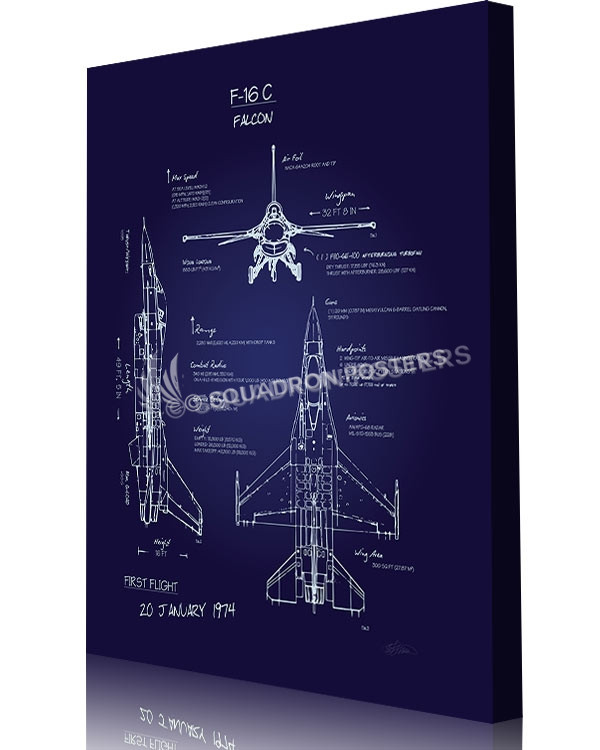 F 16c fighting falcon blueprint art squadron posters malvernweather Image collections