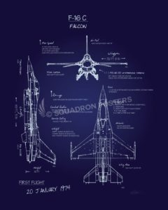 F-16c_Falcon_Blueprint_SP00913-featured-aircraft-lithograph-vintage-airplane-poster-art