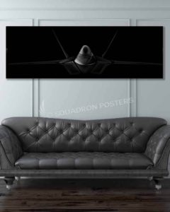 F-22 Jet Black Super Wide Canvas Print F-22 Raptor Jet Black Super Wide SP00822 featured-image-military-canvas