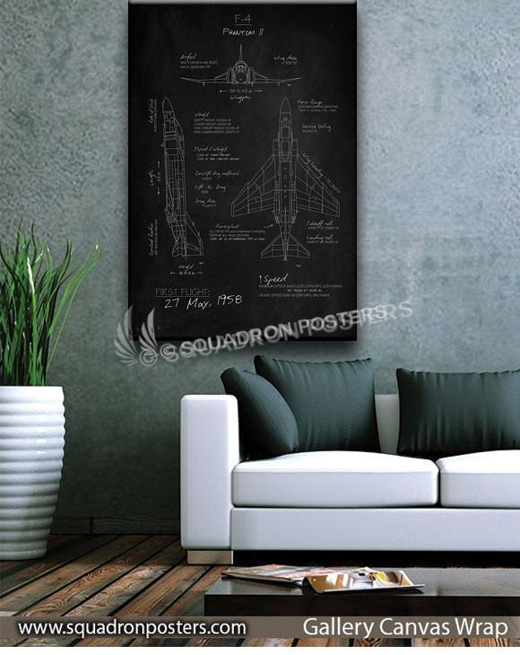 F-4_Phantom_II_Blackboard_SP01244-squadron-posters-vintage-canvas-wrap-aviation-prints
