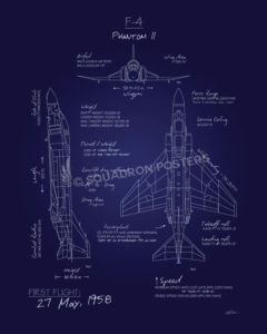 F-4 Phantom Blueprint Art F-4_Phantom_II_Blueprint_SP01245-featured-aircraft-lithograph-vintage-airplane-poster-art