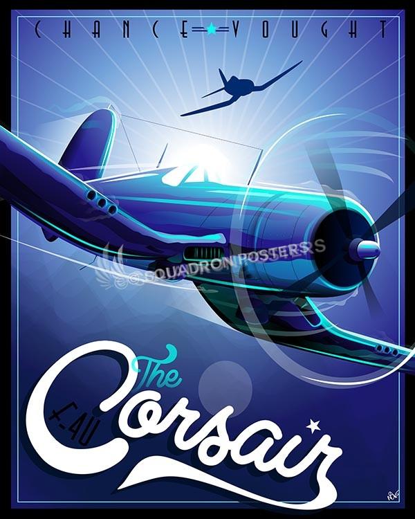 Vought F4u Corsair Squadron Posters