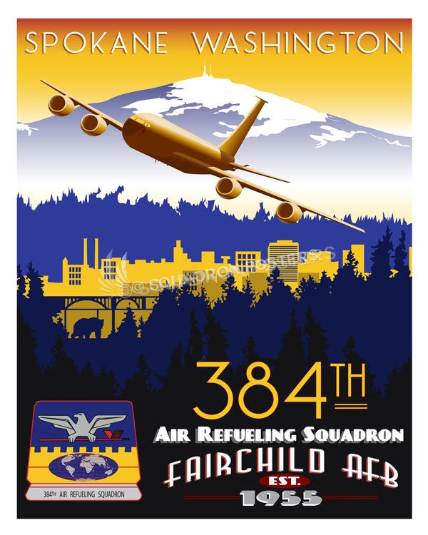 Fairchild Afb 384th Ars Kc 135 Squadron Posters