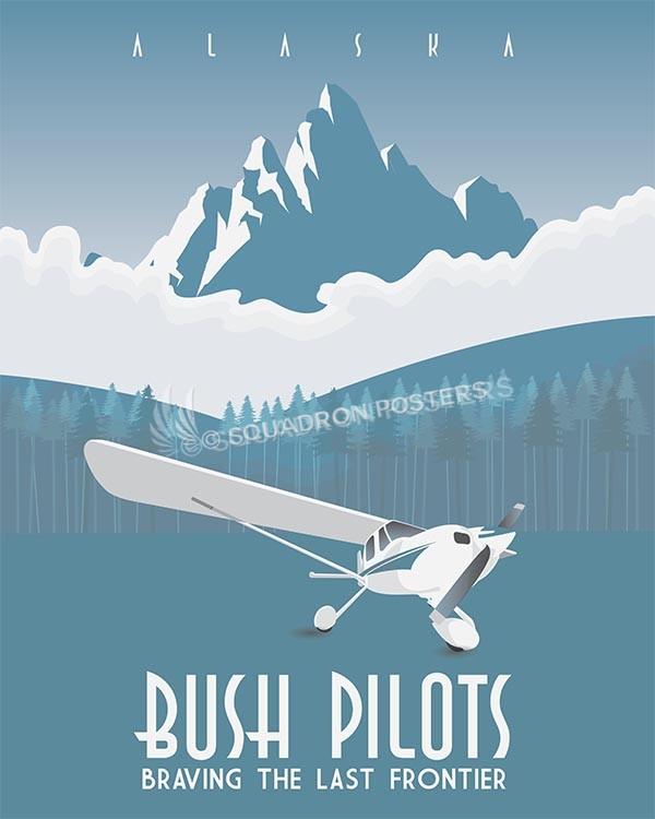 Alaskan Bush Pilots - print alaskan-bush-pilots-aviation-poster-art-print