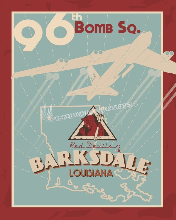 Barksdale 96th Bomb Squadron B-52 poster art by - Squadron Posters!