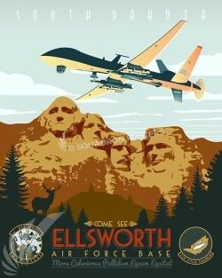 Ellsworth AFB - 432d ATKS, MQ-9 Reaper ellsworth-afb-432d-as-mq-9-reaper-military-aviation-vintage-poster-art-print-gift