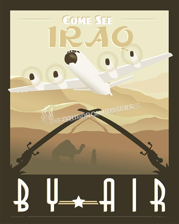 P-3 Orion come-see-iraq-by-air-p-3-orion-military-aviation-poster-art-print-gift