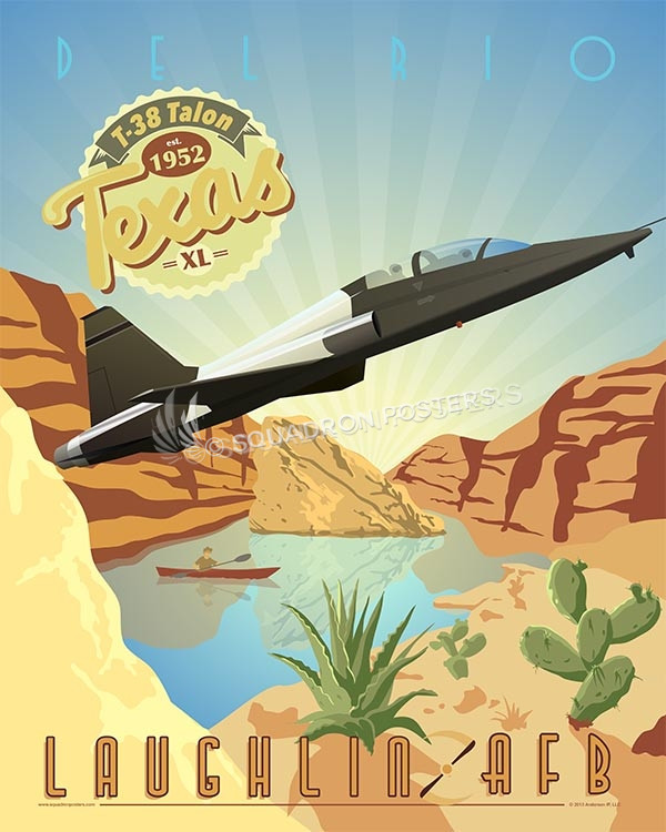 Laughlin AFB T-38 Talon poster art