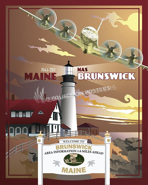 Brunswick P-3 Orion Nas Brunswick P-3 Orion military aviation poster print art gift