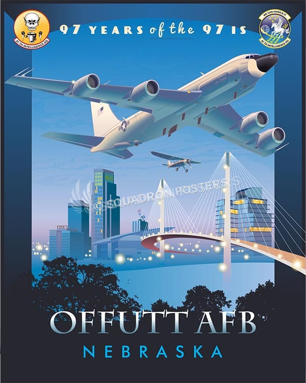 offutt-afb-97-years-97th-intelligence-squadron-rc-135-military-aviation-poster-art-print