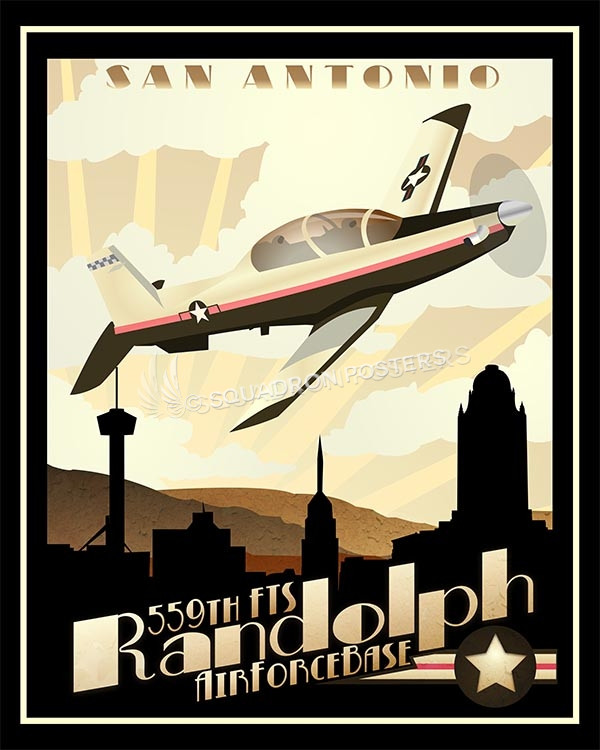 Randolph AFB T-6 version 2 poster art