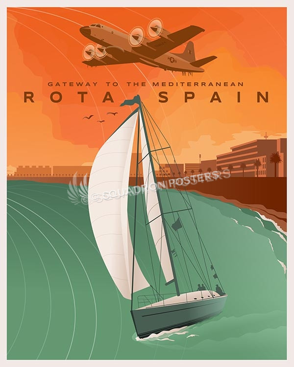 Naval Station Rota Spain - EP-3 Aries Naval Station Rota Spain - EP-3 poster art