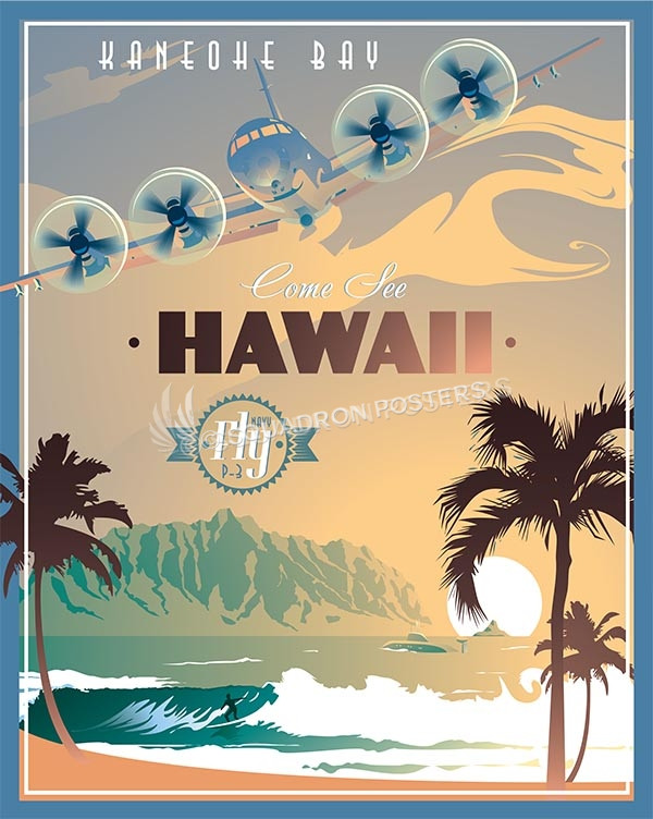 MCB Hawaii - P-3 Orion poster art