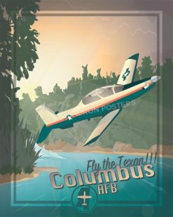 Fly the Texan Columbus T6 SP00599 military aviation poster art print gift